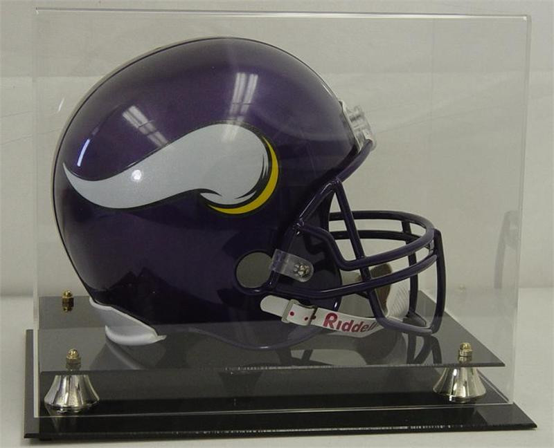 cc2a0e31 DELUXE FULL SIZE FOOTBALL HELMET DISPLAY with Clear Top