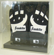 Double Baseball Batting Glove Display with Mirror