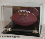 DELUXE MINI FOOTBALL DISPLAY with GOLD RISERS