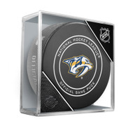 Nashville Predators Inglasco Official NHL Game Puck in Cube