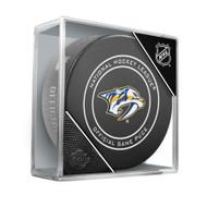 Nashville Predators Inglasco Official NHL Game Puck in Cube