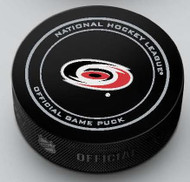 Carolina Hurricanes Inglasco Official NHL Game Puck in Cube