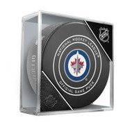 Winnipeg Jets Inglasco Official NHL Game Puck in Cube