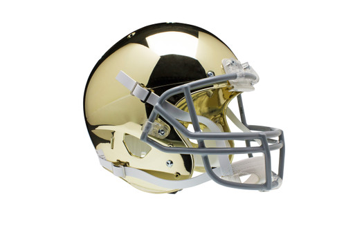 Notre Dame Fighting Irish Special GOLD CHROME Schutt Full Size Replica XP Football Helmet