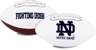Signature Series NCAA Notre Dame Fighting Irish Autograph Full Size Football