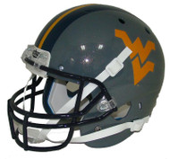 West Virginia Mountaineers Schutt Alternate Gray Full Size Replica Helmet