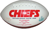 Kansas City Chiefs Embroidered Signature Series Autograph Football with 2 Super Bowl Championship Logos