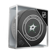 Dallas Stars Inglasco Official NHL Game Puck in Cube