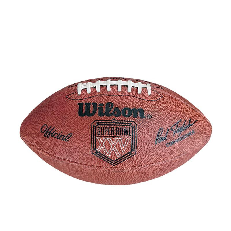 89d907500 Super Bowl XXV (Twenty-Five 25) New York Giants vs. Buffalo Bills Official  Leather Authentic Game Football by Wilson. Wilson Sporting Goods. Image 1