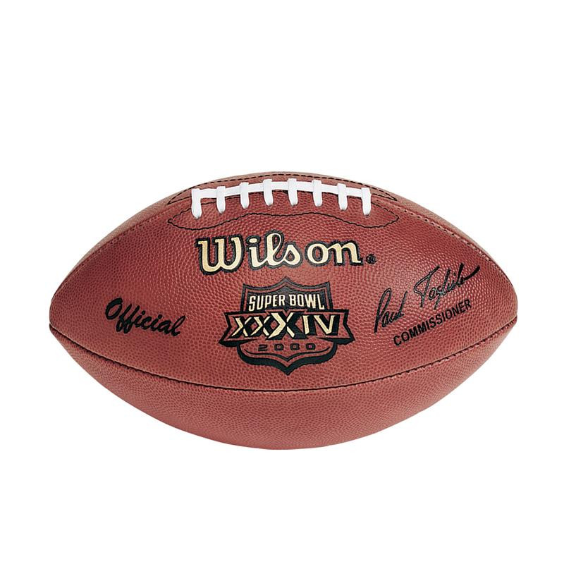 Super Bowl XXXIV (Thirty-Four 34) Rams vs. Titans Official Leather ... 7a0236455
