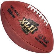 Super Bowl XLII (Forty-Two 42) New York Giants vs. New England Patriots Official Leather Authentic Game Football by Wilson