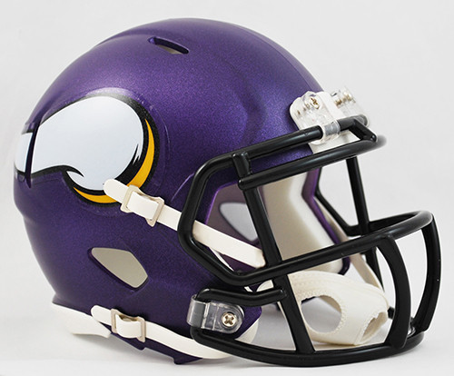 MINNESOTA VIKINGS MATTE  RIDDELL AUTHENTIC SPEED FOOTBALL HELMET