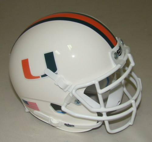 Miami Hurricanes Schutt Mini Authentic Football Helmet