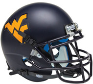 West Virginia Mountaineers Matte Navy Schutt Mini Authentic Football Helmet