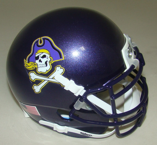 East Carolina Pirates Schutt Mini Authentic Football Helmet