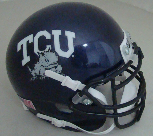TCU Texas Christian Horned Frogs Schutt Mini Authentic Football Helmet