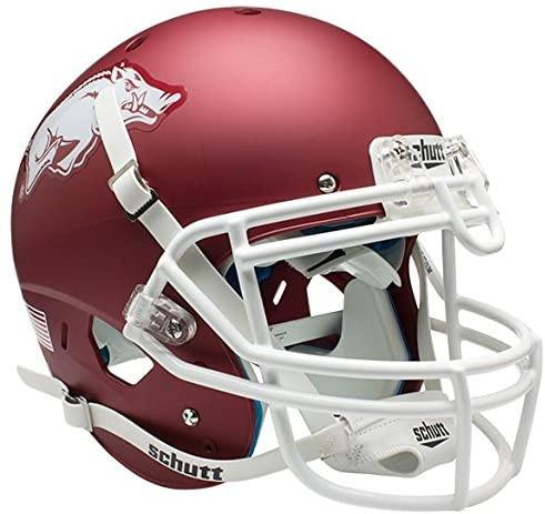 Arkansas Razorbacks Matte Red Schutt Full Size Authentic Helmet