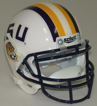 LSU Tigers 1997 Schutt White Throwback Mini Authentic Football Helmet