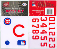 Chicago Cubs Batting Helmet Rawlings Decal Kit