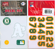 Oakland A's Batting Helmet Rawlings Decal Kit