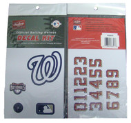 Washington Nationals Batting Helmet Rawlings Decal Kit