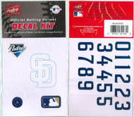 San Diego Padres Batting Helmet Rawlings Decal Kit