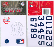 New York Yankees Batting Helmet Rawlings Decal Kit