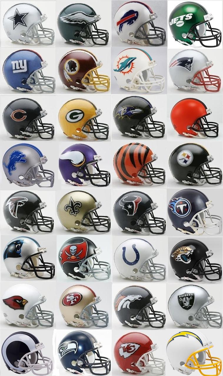 d889f616 All 32 NFL Current Riddell Replica Mini Helmets. Riddell · Image 1