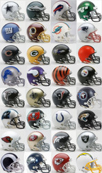 All 32 NFL Current Riddell Replica Mini Helmets