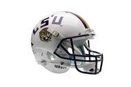 LSU Tigers Alternate White Schutt Full Size Replica Helmet
