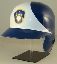 Milwaukee Brewers Rawlings LEC White Throwback Full Size Baseball Batting Helmet