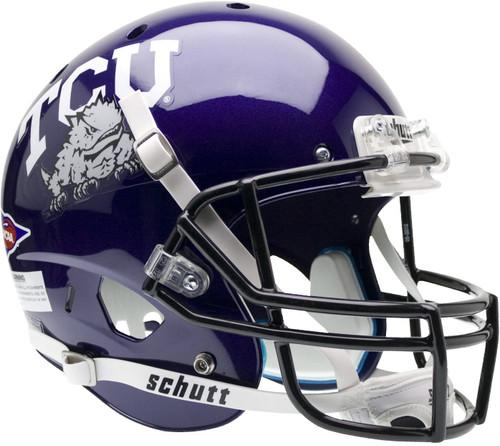 TCU Texas Christian Horned Frogs Schutt Full Size Replica XP Football Helmet