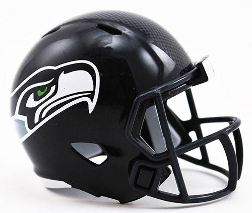 51d524250d3 Seattle Seahawks Revolution Mini Pocket Pro Helmet. Riddell. Image 1