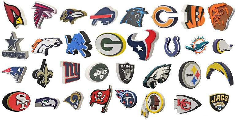 6d3542c9 All 32 NFL Teams 3D Fan Foam Logo Signs