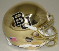 Baylor Bears ALTERNATE CHROME Schutt Mini Authentic Football Helmet