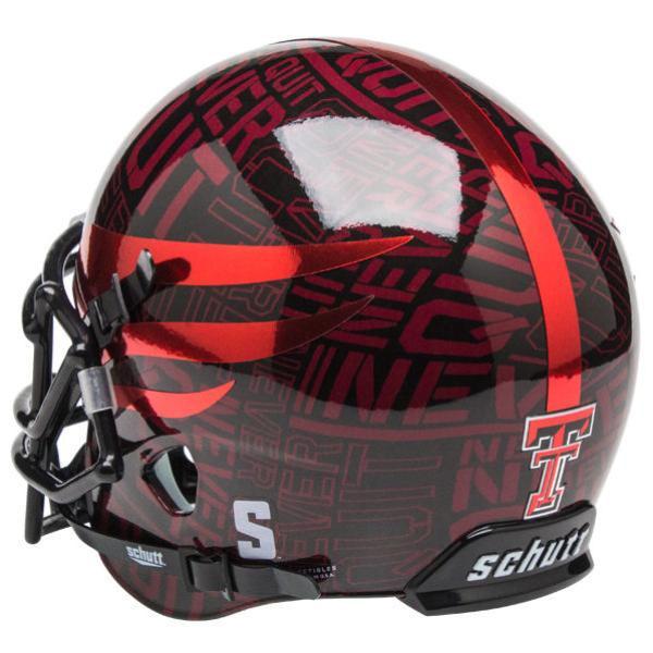 a6781b33 Texas Tech Red Raiders Alternate NEVER QUIT - LONE SURVIVOR Schutt Mini  Authentic Helmet
