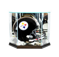 Deluxe Glass Octagon Full Size Football Helmet Display Case