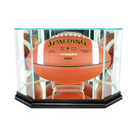 Deluxe Real Glass Octagon Football Display Case