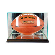 Deluxe Real Glass Rectangle Football Display Case