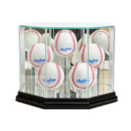 Deluxe Real Glass 5 Baseball Display Case
