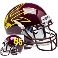 Arizona State Sun Devils Maroon Big Fork Alternate Schutt Mini Authentic Football Helmet