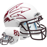 Arizona State Sun Devils White Big Fork Alternate Schutt Mini Authentic Football Helmet