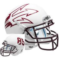 Arizona State Sun Devils White Big Fork Alternate Schutt Mini Authentic Football Helmet