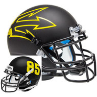 Arizona State Sun Devils Black Big Fork Alternate Schutt Mini Authentic Football Helmet
