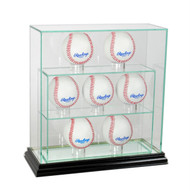 Deluxe Real Glass 7 Baseball UPRIGHT Display Case