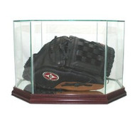 Deluxe Real Glass Baseball Glove Octagon Display Case