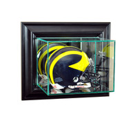 Deluxe Real Glass Wall Mounted Football Mini Helmet Display Case