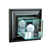 Deluxe Real Glass Wall Mounted Golf Ball Display Case