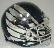 Oregon Ducks Authentic Schutt Mini Football Helmet - Carbon Fiber with Chrome Wings