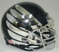Oregon Ducks Authentic Schutt Mini Football Helmet - Carbon Fiber with Chrome Wings